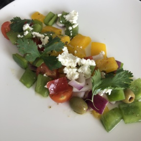 Greek salad from Le Blanc Room Service