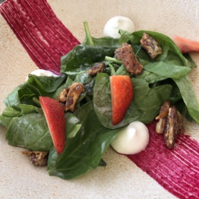 Strawberry salad from Blanc Ocean