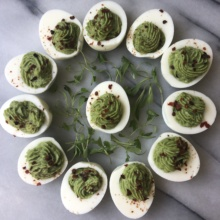 Gluten-free dairy-free Avocado Deviled Eggs