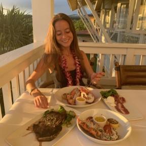 Jackie at Merriman's in Kauai