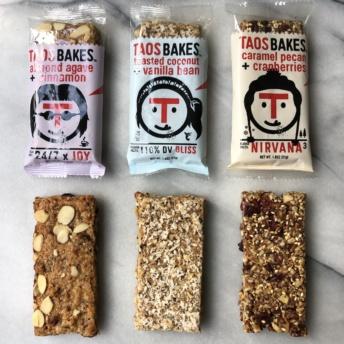 Non-GMO bars by Taos Bakes