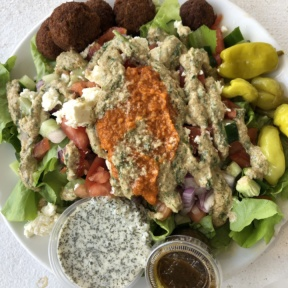 Gluten-free Mediterranean salad from Java Kai