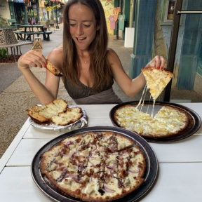Jackie at Hanalei Bay Pizzeria in Kauai