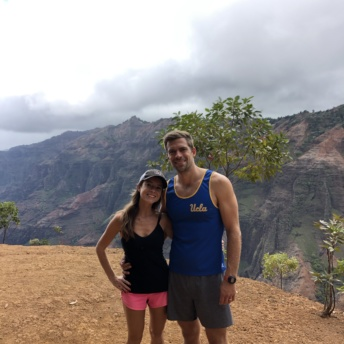 Jackie and Brendan hiking Waimea Canyon