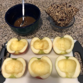 Ready to make Baked Apples with Crumble Topping