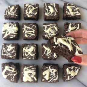 Eating gluten-free Cobweb Brownies