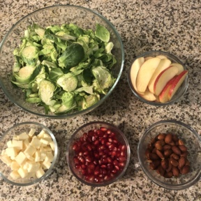Making a Shredded Brussels Sprouts and Apple Salad