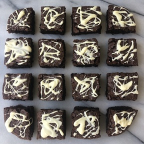Gluten-free Cobweb Brownies for Halloween