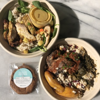 Gluten-free bowls and cookies from Everytable in LA