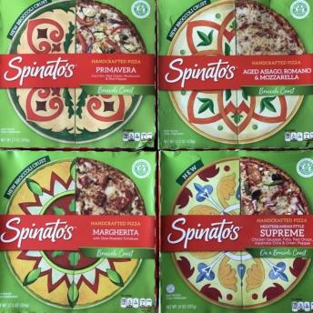 Gluten-free broccoli crust pizza by Spinato's