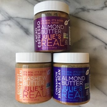 Gluten-free paleo nut butters by Julie's Real