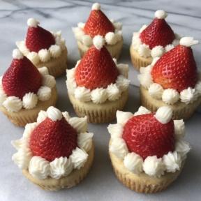 Gluten-free dairy-free Santa Hat Cupcakes