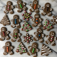 Gluten-free Gingerbread men, Christmas trees, and snowflakes