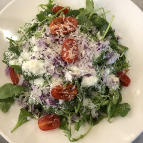 Gluten-free arugula salad from Marinara Pizza