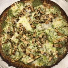 Gluten-free cauliflower crust pizza from Marinara Pizza