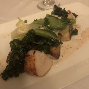 Scallops entree from Chez Nous Bistro