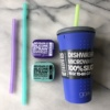 100% silicone to-go cup and straws by GoSili