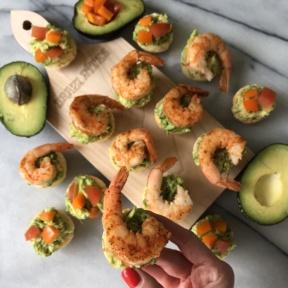 Avocado Shrimp Bites on Brazi Bites