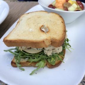 Gluten-free chicken salad sandwich from Taste at the Palisades