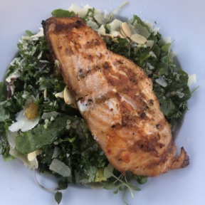 Kale salad with salmon from Society Kitchen