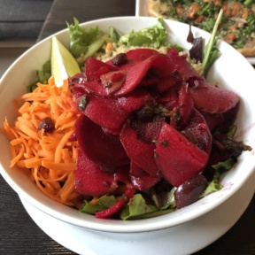 Beet salad from Suncafe