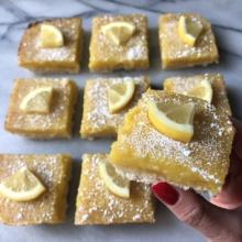 Delicious gluten-free Lemon Squares