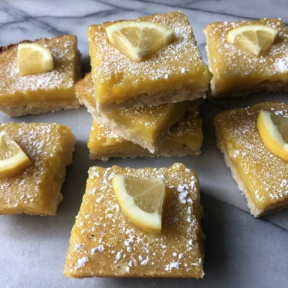 Stack of gluten-free Lemon Squares