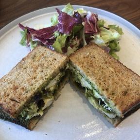 Gluten-free chicken pesto sandwich from Breadblok