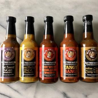 Gluten-free sauces by Mr. Spice