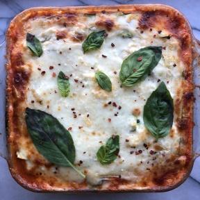 Gluten-free Zucchini Lasagna with Chicken and Basil