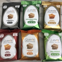 Gluten-free egg white chips by Quevos