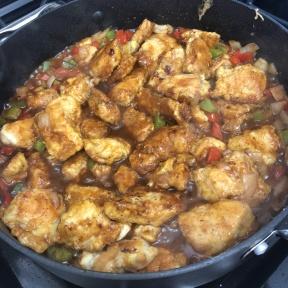 Making gluten-free Sweet & Sour Chicken over Cauliflower Rice