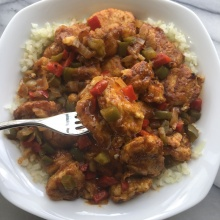 Sweet & Sour Chicken over Cauliflower Rice