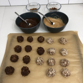 Ready to dip the Cookie Truffles