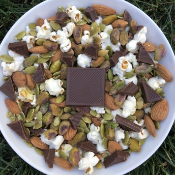 Gluten-free trail mix with Surge Chocolate