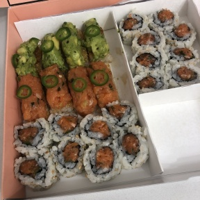 Gluten-free sushi rolls from Krispy Rice