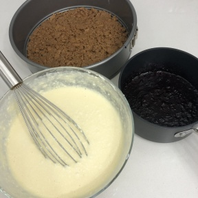 Making gluten-free Blueberry Cheesecake