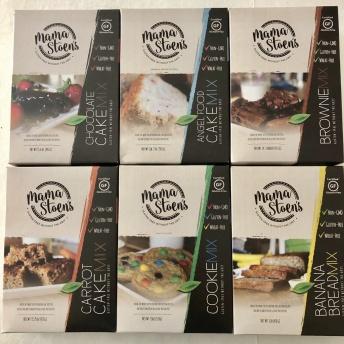Gluten-free baking mixes by Mama Stoen's