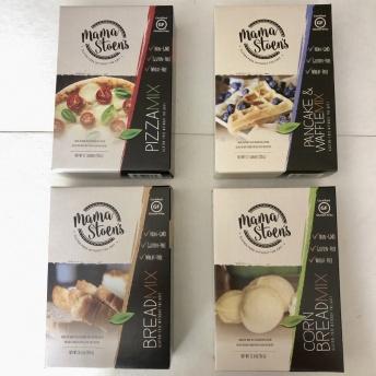 Certified gluten-free mixes by Mama Stoen's