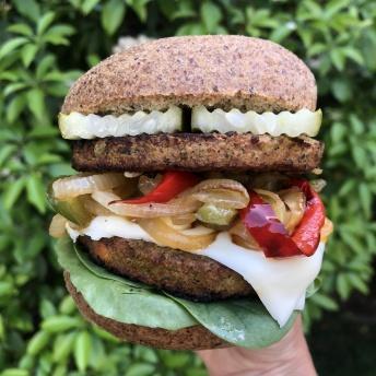 Gluten-free veggie burger on Unbun Foods
