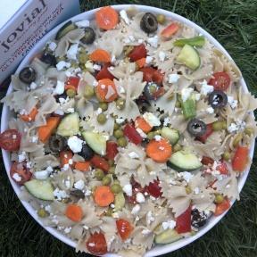 Gluten-free Italian Pasta Salad with Jovial Foods