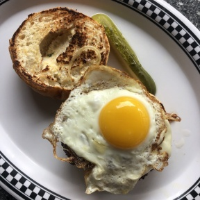 Gluten-free burger from New Canaan Diner