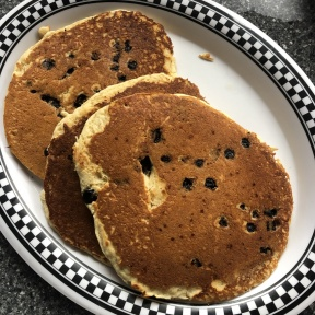 Gluten-free blueberry pancakes from New Canaan Diner