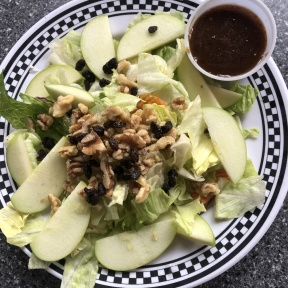 Gluten-free Waldorf salad from New Canaan Diner