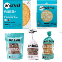 Gluten-free grain-free bread products by Unbun Foods