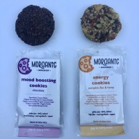 Gluten-free energy and mood boosting cookies by Morganic Bakeshop