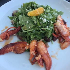 Gluten-free lobster salad from Harbor Lights