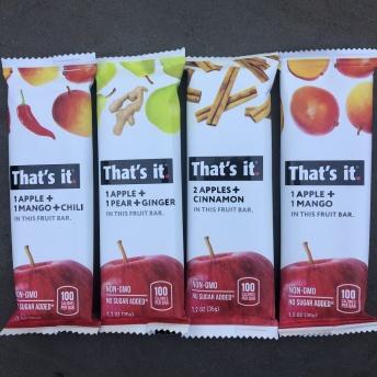 Gluten-free fruit bars by That's It Fruit