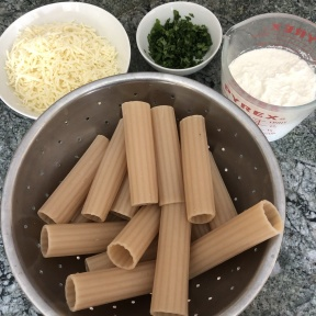 Making gluten-free Cheese Manicotti