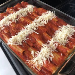 More cheese on Cheese Manicotti